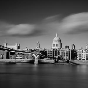 St Paul's Cathedral and Millenium Bridge (London, UK)